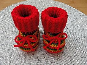 Topánočky - Vianočné papučky - 7481081_