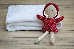 "Textil - Detská deka na zimu,  ,,Vrkoč"",  OEKO-TEX® - Biela - 7482852_"