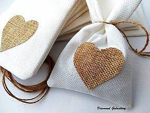 Obalový materiál - Dekoračné taštičky so srdiečkom - 7483820_