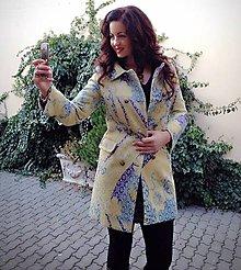 Kabáty - Veselý retrokabát NOVOROČNÁ ZĽAVA (pôvodná cena 229€) - 7485375_