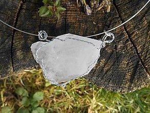 Náhrdelníky - ice cristall from sk - 7483058_