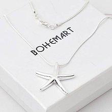 Náhrdelníky - Postriebrený náhrdelník - Hviezdice - 7481408_