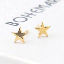 Náušnice - Pozlátené náušnice - Stars - 7481627_