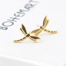 Náušnice - Pozlátené náušnice - Dragonflies - 7481817_