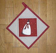 Úžitkový textil - Chňapka so snehuliakom - 7480284_