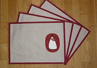 Úžitkový textil - Prestieranie so snehuliakom 2 - 7480394_