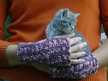 Rukavice - Bezprstové rukavice - mlha - 7480843_