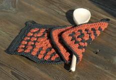 Úžitkový textil - Háčkované chňapky do kuchyně - 7480967_