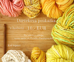 Darčekové poukážky - Darčeková poukážka v hodnote 10 Eur - 7481740_