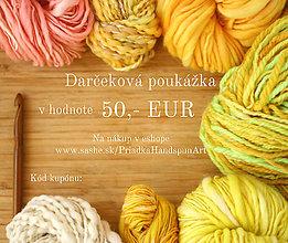 Darčekové poukážky - Darčeková poukážka v hodnote 50 Eur - 7481943_