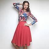 Sukne - Červená midi sukňa Larissa - 7484497_