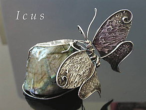 Socha - Socha Labradorit - Motýľ - 7480089_