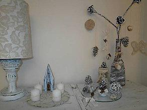 Obrázky - Kostolík na minimalistický,alebo shabby chic adventný venček... - 7484768_