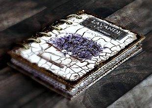 Papiernictvo - Provance levanduľový diár 2020,vymeniteľný obsah,utierateľný obal - 7480443_