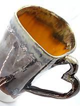 - veľká šálka kovová so srdcom  - 7482432_