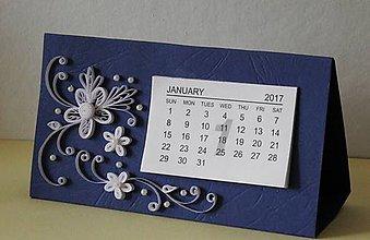 Papiernictvo - kalendár 2017 - blue - 7484848_