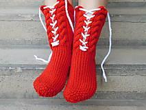 Obuv - šnurovačky červené (v.38-40) - 7484722_