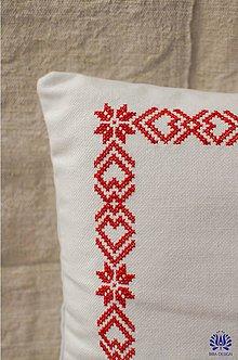 Úžitkový textil - vyšívaná obliečka na vankúš - 7480450_