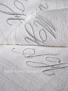 Úžitkový textil - Osuška s monogramom - 7480227_