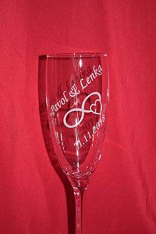 Nádoby - Svadobné poháre + gravirovanie 22 - 7484268_