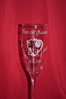 Nádoby - Svadobné poháre + gravirovanie 23 - 7484353_