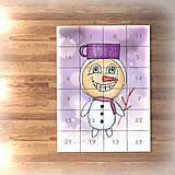 Dekorácie - Adventný kalendár svetielka (snehuliak) - 7484858_