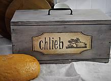 Nádoby - Chlebník vo farbe starého dreva - 7483007_