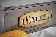 Nádoby - Chlebník vo farbe starého dreva - 7483011_