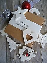 Dekorácie - Ozdoby vianočné biele mix - sada Surprise? Surprise! - 7486674_