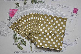 Obalový materiál - papierovy sacok zlata bodka - 7486145_