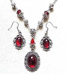 Sady šperkov - červená trilógia - 7489255_