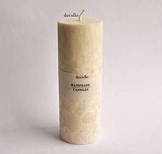 Svietidlá a sviečky - Mandľová sviečka Ø55 - 7490029_