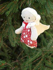 Dekorácie - anjelik -ozdoba na stromček (1) - 7489839_