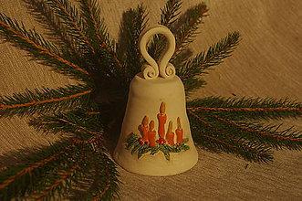 Dekorácie - zvonček s vianočným motivom - 7490156_