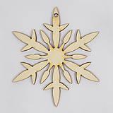 Dekorácie - Vianočná závesná ozdoba - vločka 2 - 7489869_