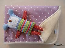 - Deka pre bábätko 100% ovčie runo Merino TOP 70 x 100 cm - 7490049_
