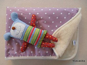 Textil - Deka pre bábätko 100% ovčie runo Merino TOP 70 x 100 cm - 7490049_