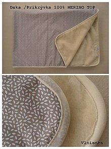 Úžitkový textil - Vlnená deka 100% ovčie rúno MERINO TOP super wash - 7490557_