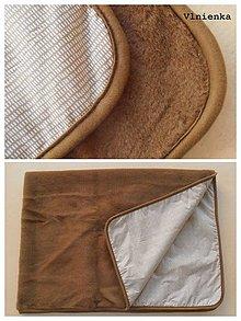 Úžitkový textil - Vlnená deka CAMEL 100% ovčie runo MERINO LUX - 7490710_