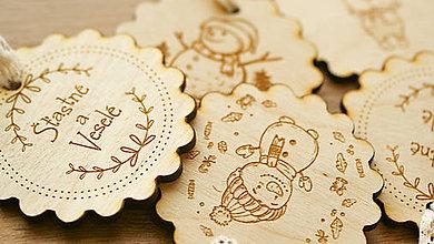Dekorácie - Kolekcia drevených ozdôb - 7487401_