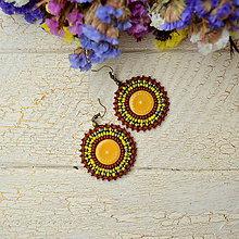 Náušnice - Pottery earrings n.25 -  vyšívané náušnice - 7488797_