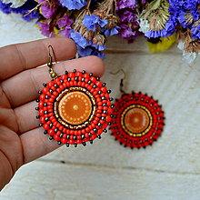 Náušnice - Pottery earrings n.26 -  vyšívané náušnice - 7488834_