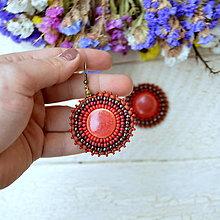 Náušnice - Pottery earrings n.27 -  vyšívané náušnice - 7488858_