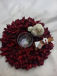 Svietidlá a sviečky - Vianočný svietnik - 7486200_
