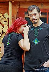 Tričká - Dámske a pánske tričká, párové, maľované, folk VYŠÍVANÔ - 7486784_