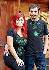 Tričká - Dámske a pánske tričká, párové, maľované, folk VYŠÍVANÔ - 7486822_