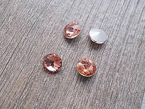 Komponenty - kabošon rivoli 12 mm peach - 7486994_