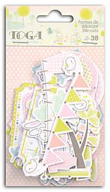 - FPD45 Kartónové výseky 38 ks – bábätko ružové - 7490342_