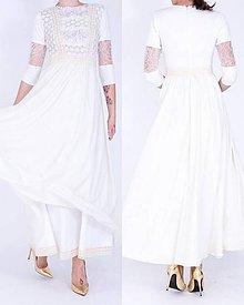 Šaty - Dlhé šifónové šaty - 7487550_