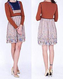 Šaty - Krátke šifónové šaty - 7487664_
